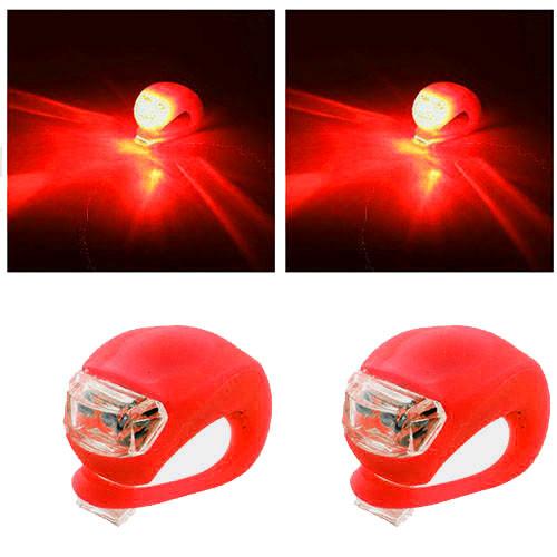 Велофонарь HJ008-2 Ultra brite, 2-Led red, 2xCR2032