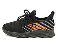 Кроссовки Lilin 33 20.5 см Черно-оранжевый A701-4 black-or, КОД: 1686754
