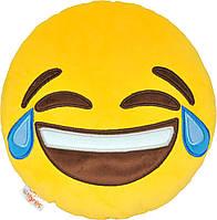 Декоративная подушка Tigres эмоджи Tears of joy ПД-0317, КОД: 2428557