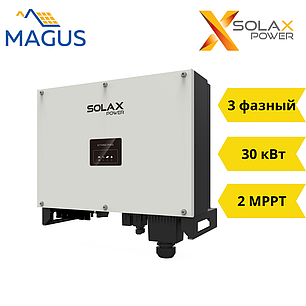 Сетевой инвертор Solax X3-30.0P PRO (30 кВт 3 фазный 2 MPPT), фото 2
