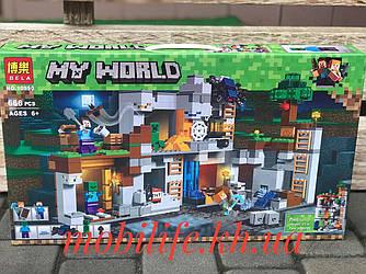 """Большой Конструктор Майнкрафт Minecraft 666дет/Конструктор my world """"Приключения в шахтах""""/Высокое Качество/"""
