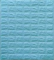 Самоклеючі 3Д панелі, декоративні стінові панелі 7 мм, Бірюзова цегла