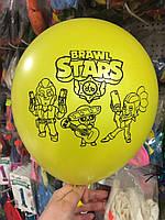 """Кульки повітряні з малюнком поштучно """"Бравл Старс/Битва зірок"""" 12"""" (30см) (асорті)"""