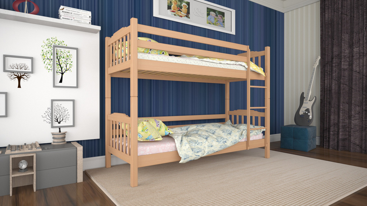 Кровать деревянная двухъярусная Ника 80 ТМ Mecano (Мекано)