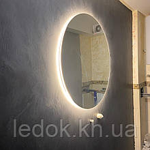 Круглое зеркало с Led подсветкой для ванной Lidia