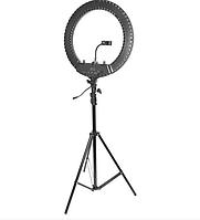 Кольцевая селфи лампа MQ-18N Led Soft Ring Light, 55 Вт, Ø 43,5 см