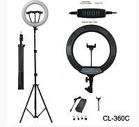 Кольцевая селфи лампа CL-360C Led Ring Fill Light, 30 Вт, Ø 35 см