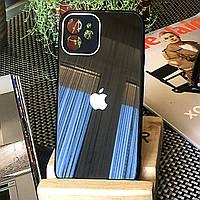 Чехол Color-Glass для Iphone 11 бампер с защитой камер Black