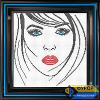Схема для вышивки бисером - Лицо девушки, Арт. ЛБп29-3