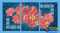 Схема для вышивки бисером - Орхидеи красные триптих, Арт. МКч-009