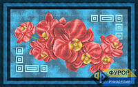 Схема для вышивки бисером - Красная орхидея, Арт. НБп-002