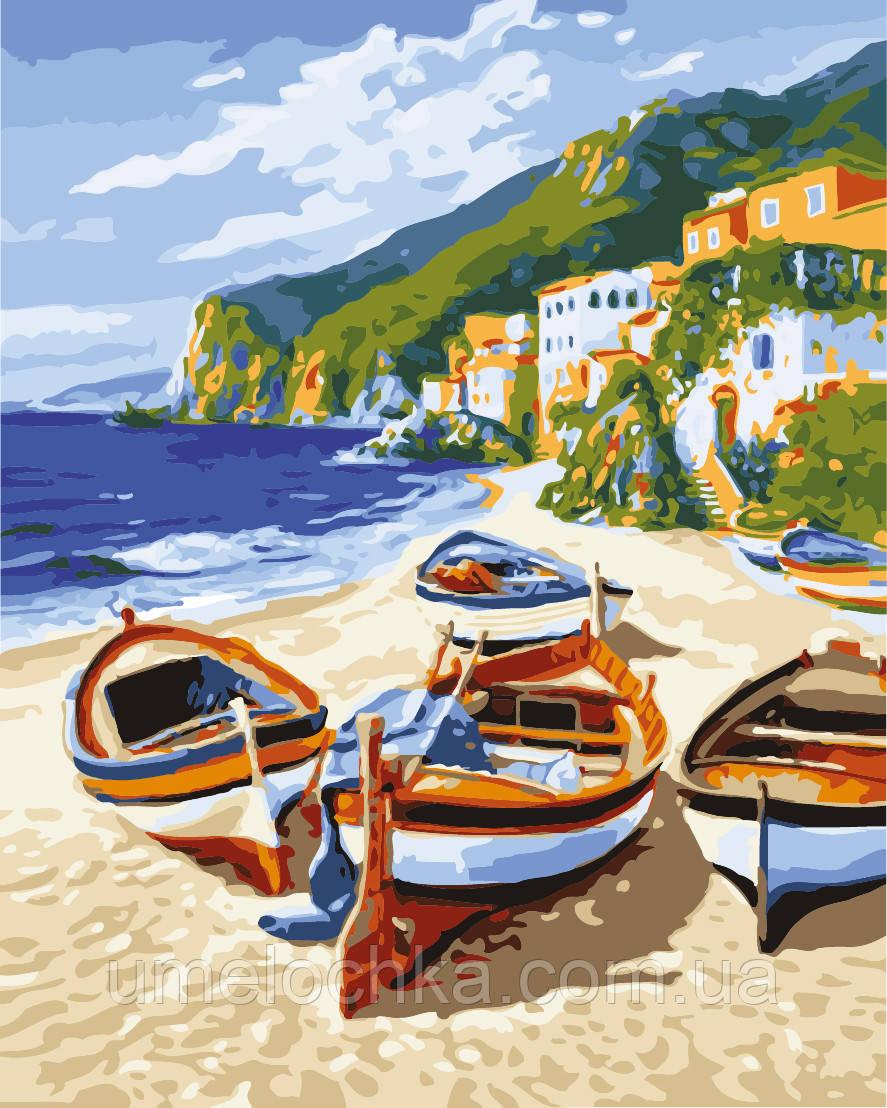 Картины по номерам морской пейзаж Тихая гавань (KH2721) 40 х 50 см Идейка