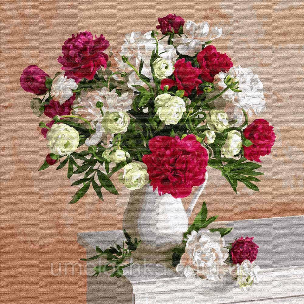 Картина по номерам Идейка Цветы вдохновения Ирина Волкова (KH3112) 40 х 40 см