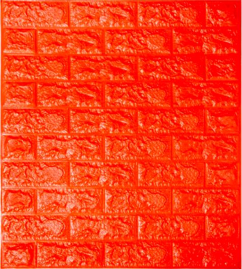 Самоклеящаяся 3D панель под кирпич Оранжевый 7 мм (в упаковке 10 шт)