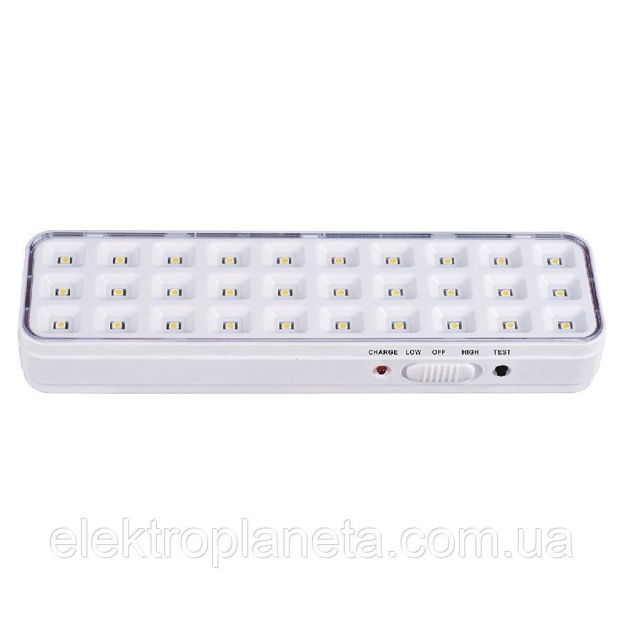 Аварийный светодиодный светильник ЕВРОСВЕТ SFT-LED-30-01 аккумуляторный