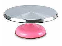 Стойка для торта вращающаяся металлическая (цвет в ассортименте)