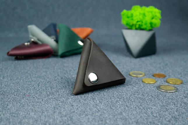 Кожаная монетница, Винтажная кожа, цвет Шоколад, фото 2