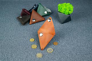 Кожаная монетница, Винтажная кожа, цвет Коньяк, фото 3