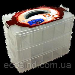32x24x18,5см пластикова тара (валізку, контейнер, органайзер) для рукоділля та шиття (653-Т-0795)