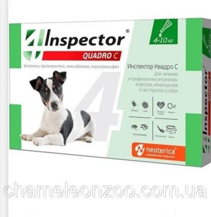 Краплі для собак Inspector - Quadro З, 4-10 кг 1 піпетка