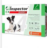 Капли для собак Inspector - Quadro С, 4-10 кг 1 пипетка