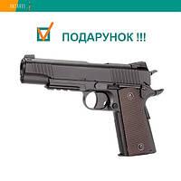 Пневматический пистолет KWC Colt 1911 KM40DHN Кольт газобаллонный CO2 129 м/с