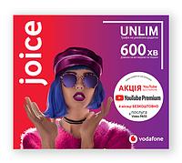 """Стартовый пакет Vodafone """"joice"""" (первый месяц оплачен)"""