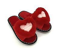 Женские тапочки с сердечком