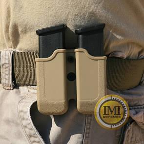 Двойной полимерный подсумок для серии Glock IMI-Z2000 (MP00) Чорний