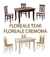 Комплексне рішення для кухні в стилі кантрі: столи і стільці Floreale Cremona/Teak