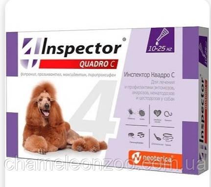 Капли для собак Inspector - Quadro С, 10-25 кг 1 пипетка