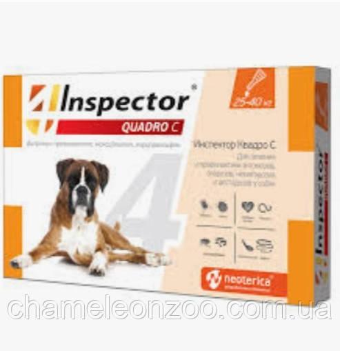 Краплі для собак Inspector - Quadro З, 25-40 кг 1 піпетка