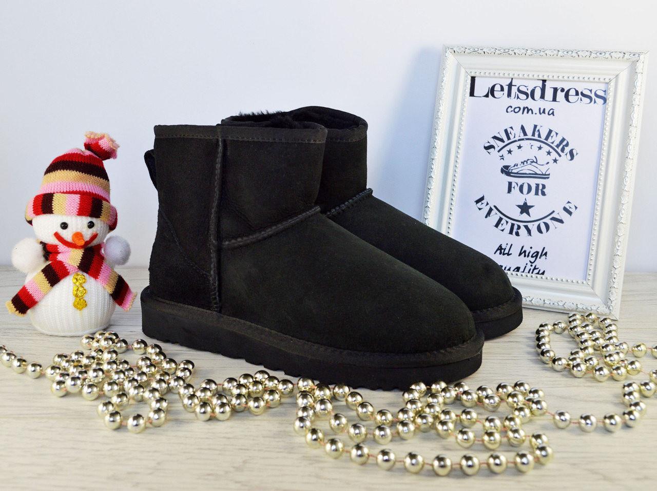 Уггі жіночі UGG Australia Mini Black original Classic | Уггі Австралія класичні чорні