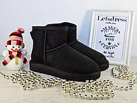Уггі жіночі UGG Australia Mini Black original Classic | Уггі Австралія класичні чорні, фото 1