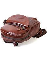 Женский стильный кожаный рюкзак  SK Leather  BROWN