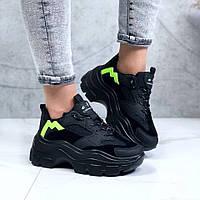 Женские кроссовки демисезонные чёрные