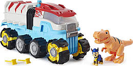 Paw Patrol, Dino Rescue Dino Patroller Motorized Team Vehicle with Chase and T. Rex Figures (Дино Патрулевоз)