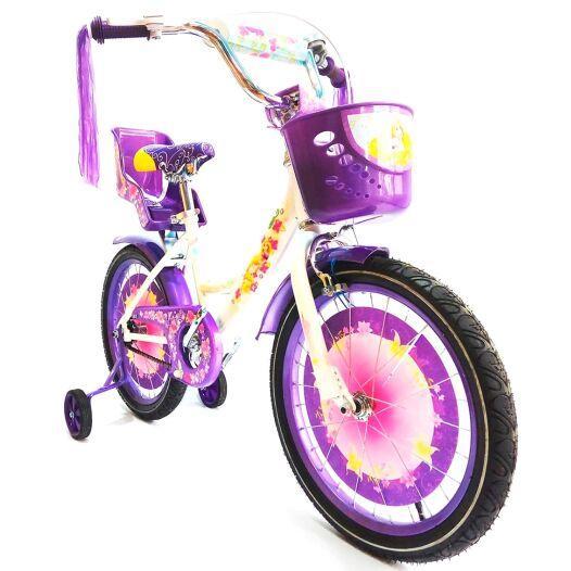 Детский велосипед Azimut Girls 18 дюймов фиолетовый