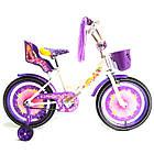 Детский велосипед Azimut Girls 18 дюймов фиолетовый, фото 2