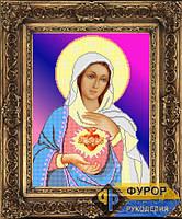 Схема иконы для вышивки бисером - Сердце Марии, Арт. ИБ3-003-2