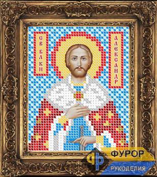 Схема для вышивки бисером иконы Александр Невский Св. Благоверный Князь (ИБ6-015)