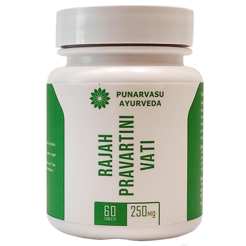 Раджа Правартини Вати (Rajah Pravartani Vati, Punarvasu) при нарушении цикла у женщин, 60 таблеток