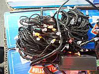 Гирлянда светодиодная 200 ламп черный провод желтая