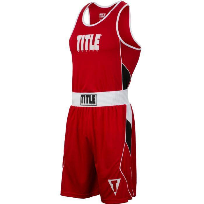 Форма для бокса TITLE Aerovent Elite Amateur Boxing Set 8 Красная