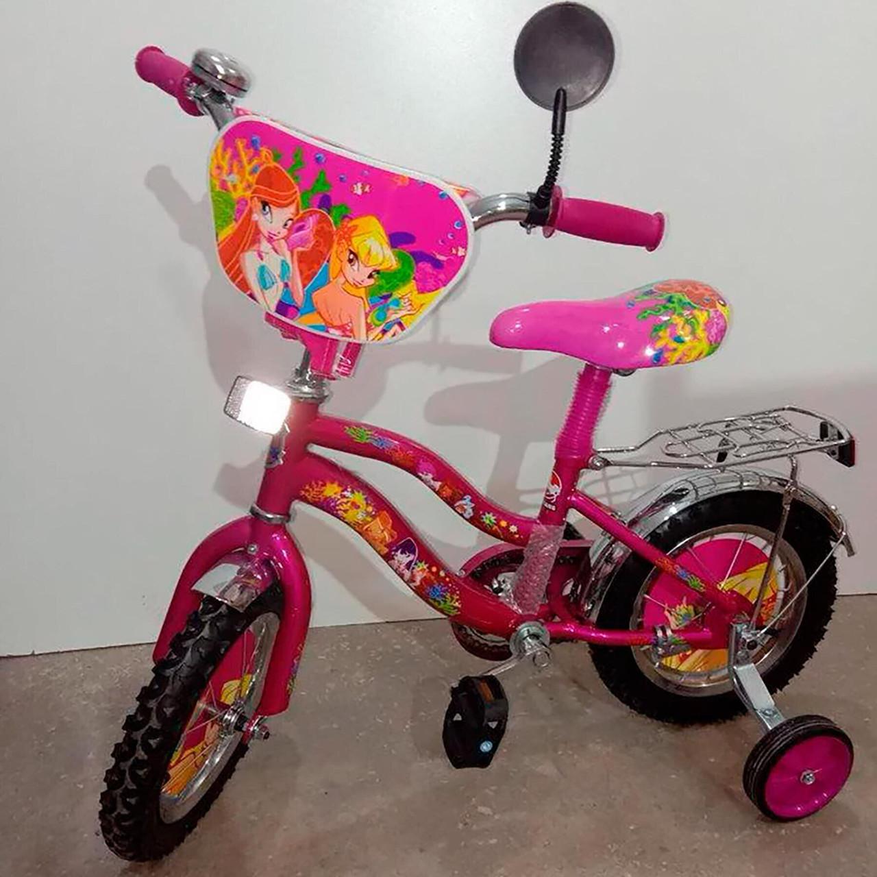 Детский велосипед Mustang Winx 12 дюймов розовый