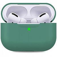 Силиконовый чехол для Airpods Pro ARM тонкий Green 4555midgreen, КОД: 2353295