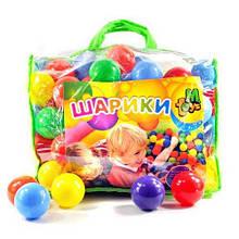 Шарики MToys 01160 для сухих бассейнов 60 мм 100 шт в сумке Разноцветный, КОД: 1319729