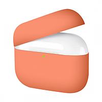 Силиконовый чехол для Airpods Pro ARM тонкий Papaya 4555peach, КОД: 2353301