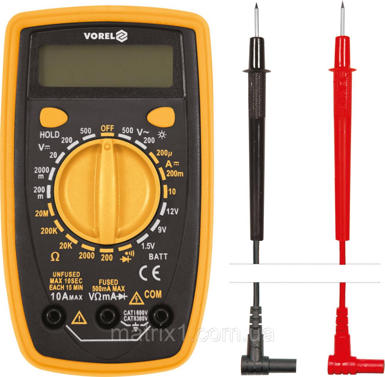 Мультиметр цифровой VOREL 81774