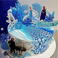 Топпер Холодное сердце Комплект Пластиковых топперов Frozen Топпери Крижане серце Топпер Ельза на торт